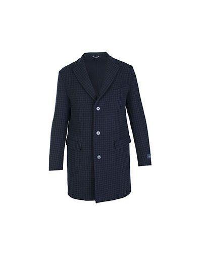 Синее шерстяное пальто Tombolini