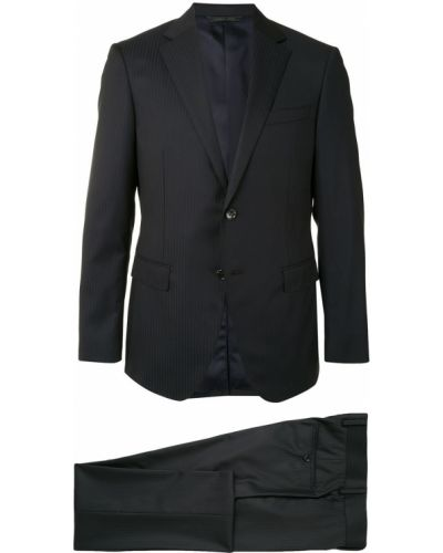 Шерстяной черный классический костюм классический с лацканами D'urban