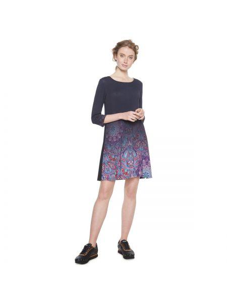 Платье мини с цветочным принтом с вырезом Desigual
