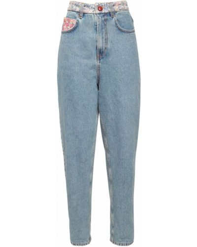Прямые джинсы mom с накладными карманами Philosophy Di Lorenzo Serafini