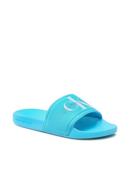 Niebieskie sandały na lato Calvin Klein Jeans