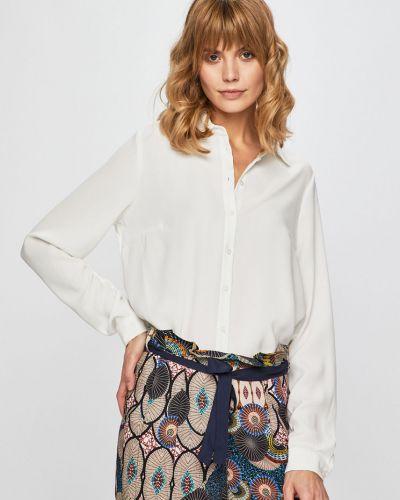 Блузка с длинным рукавом однотонная белая Vila