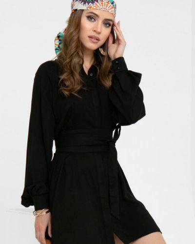 Платье - черное Gold Chic Chili