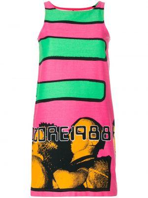 Розовое прямое платье винтажное без рукавов Stephen Sprouse Pre-owned
