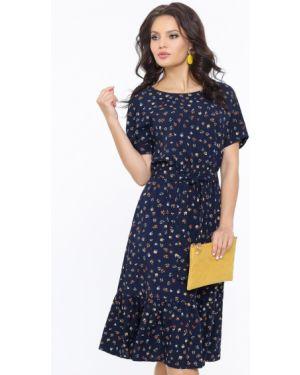 Повседневное платье с цветочным принтом из штапеля Dstrend