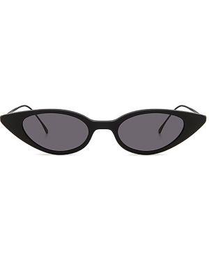 Czarne okulary skorzane Illesteva