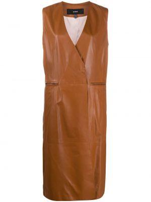Прямая коричневая жилетка с карманами Arma