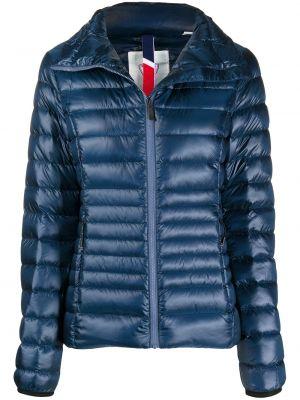 Синяя стеганая куртка с нашивками на молнии с воротником Rossignol