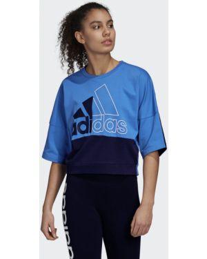 Топ короткий футбольный Adidas
