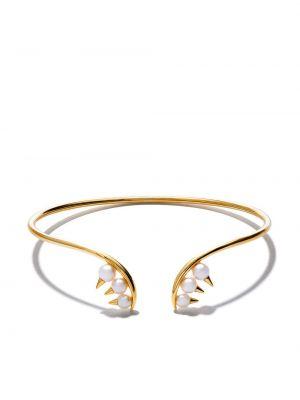 Открытый золотой браслет золотой с жемчугом Tasaki