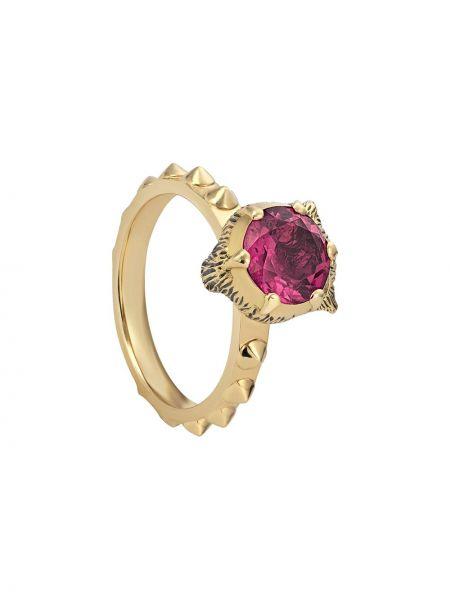 Pierścień różowy ze złota Gucci