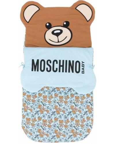 Синяя хлопковая ватная сумка Moschino Kids