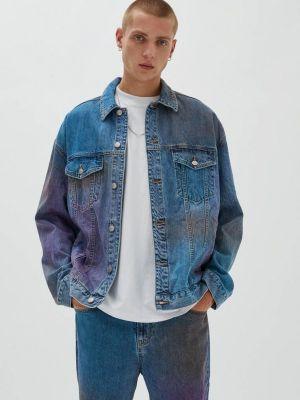 Синяя зимняя куртка Pull&bear