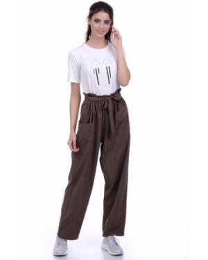 Летние брюки с накладными карманами в стиле бохо Lautus