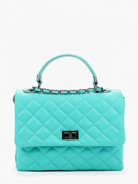 Кожаная сумка - бирюзовая Pulicati