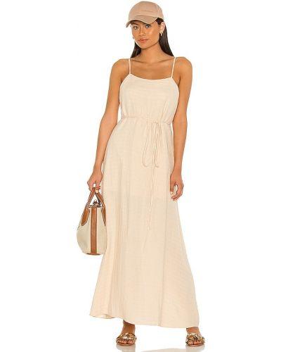 Beżowa sukienka kopertowa bawełniana Dannijo