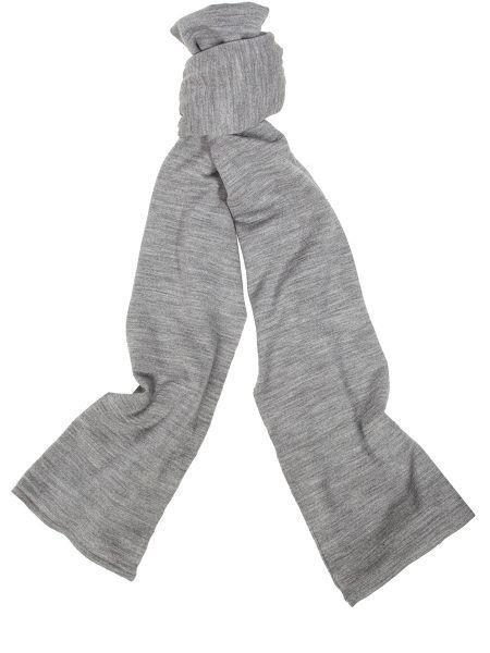 Серый шерстяной шарф John Smedley