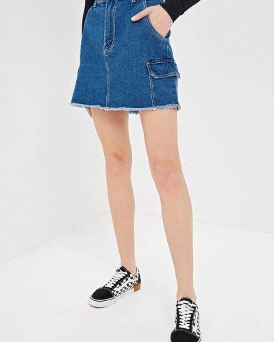 Джинсовая юбка - синяя Pink Woman