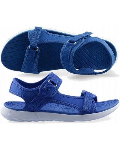 Niebieskie sandały na rzepy na co dzień 4f