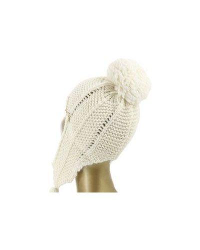 Вязаная шапка белая из альпаки Patrizia Pepe