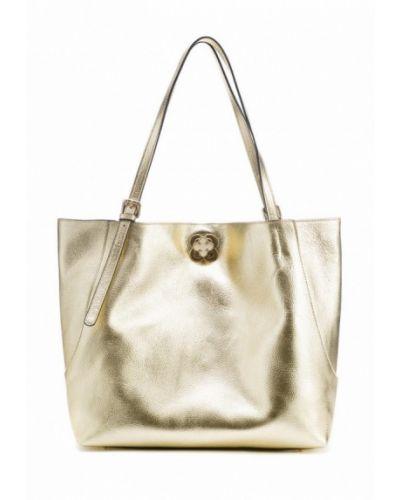 Кожаная сумка шоппер золотая Artio Nardini