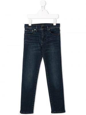 Облегающие кожаные джинсы-скинни Ralph Lauren Kids