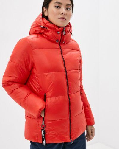 Теплая красная утепленная куртка Luhta