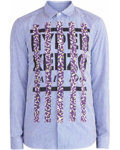 Рубашка с длинным рукавом пэчворк хлопковая Kenzo