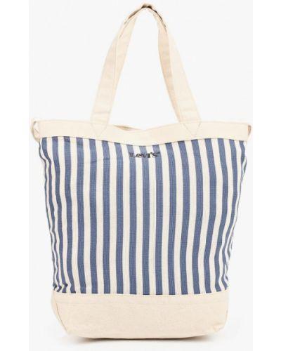 Хлопковая синяя сумка шоппер Levi's®