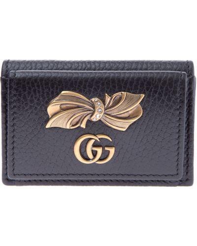 Кожаный кошелек с бантом для монет Gucci