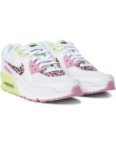 Biały skórzany sneakersy Nike Kids