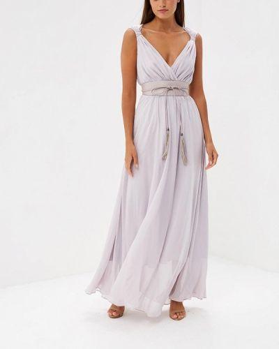 Фиолетовое платье макси Lusio