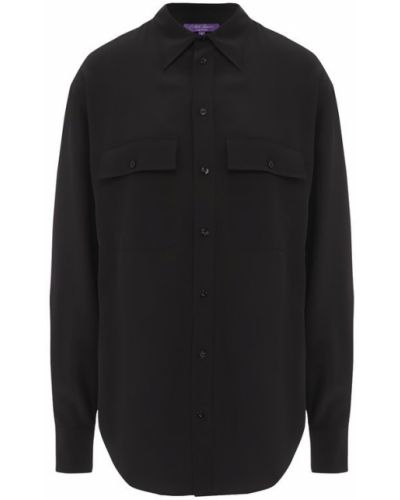 Черная блузка прямая Ralph Lauren