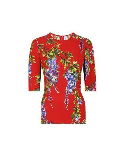 Блузка из вискозы - красная Dolce&gabbana