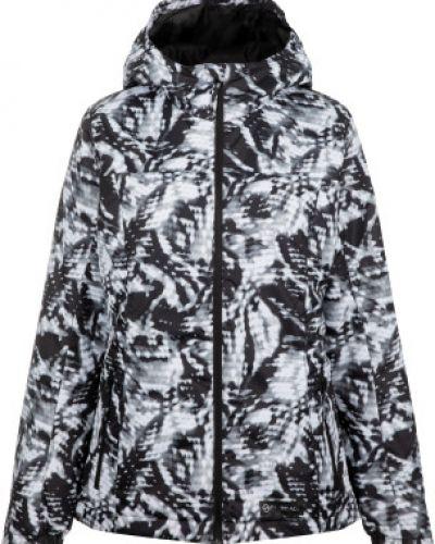 Черная утепленная куртка горнолыжная на молнии Glissade