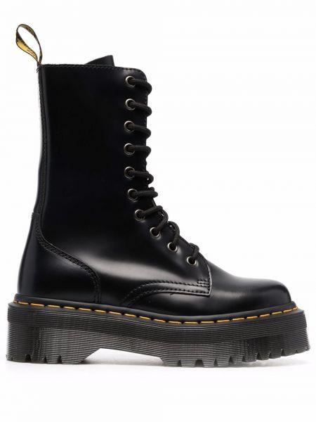Черные кожаные ботинки Dr Martens