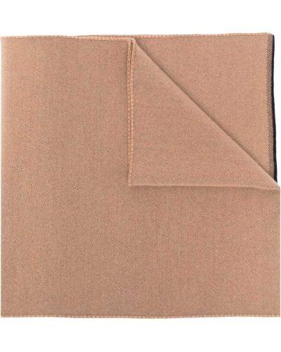 Beżowy z kaszmiru szalik z printem Givenchy