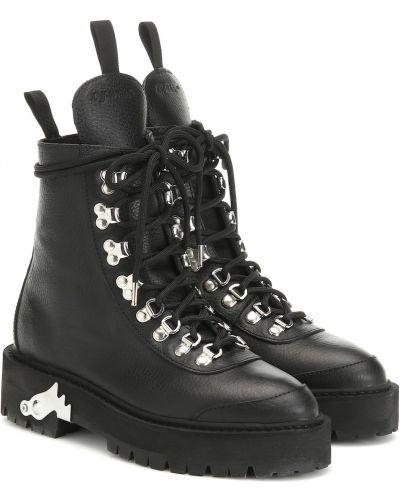 Ботинки трекинговые черные Off-white
