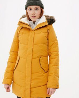 Теплая желтая утепленная куртка Roxy
