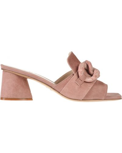 Мюли розовый замшевые Jeannot