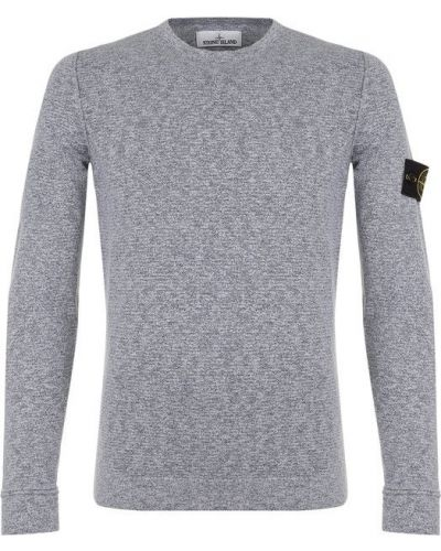 Серый свитер однотонный Stone Island