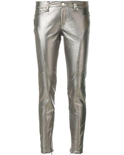 джинсы скинни с эффектом металлик Versace Jeans