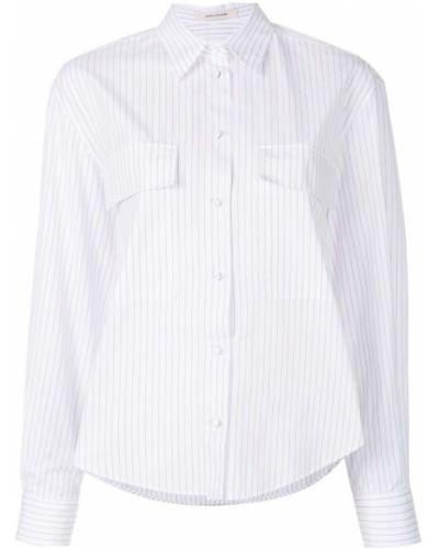 Белая рубашка в полоску Cédric Charlier