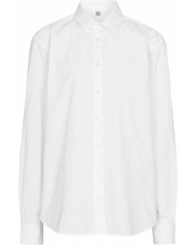 Biała koszula bawełniana do pracy Toteme