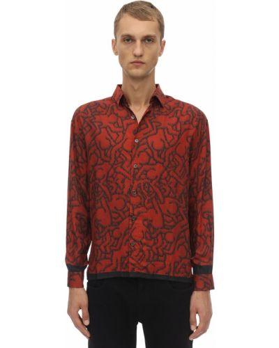 Koszula z wiskozy do pracy z printem Limitato