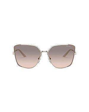 Солнцезащитные очки квадратные металлические Prada