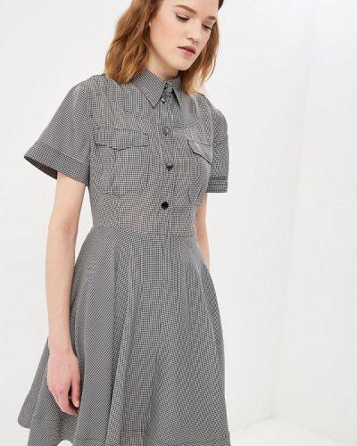 Повседневное платье весеннее черный Calvin Klein
