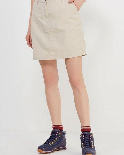 Бежевая юбка шорты Jack Wolfskin