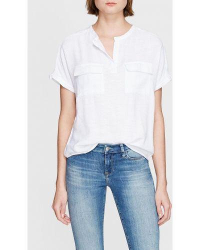 Белая блузка из вискозы Mavi
