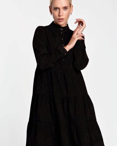 Платье вельветовое - черное Nenka
